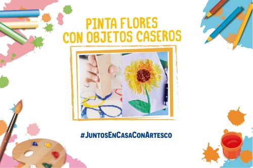 Actividad | Pinta flores con objetos caseros