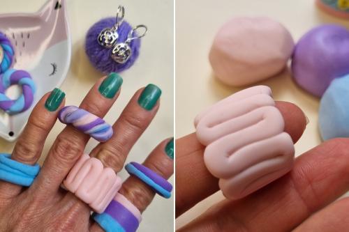 Cómo hacer los anillos chunky de Tiktok con cerámica en frío (chunky rings)