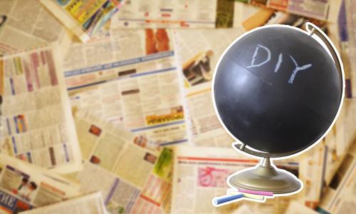 DIY: Cómo convertir un globo terráqueo en una pizarra de tiza