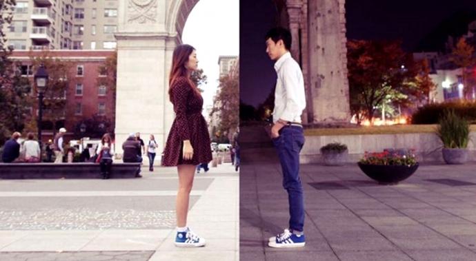 Esta pareja usa el arte para capturar lo que significa vivir un amor a larga distancia