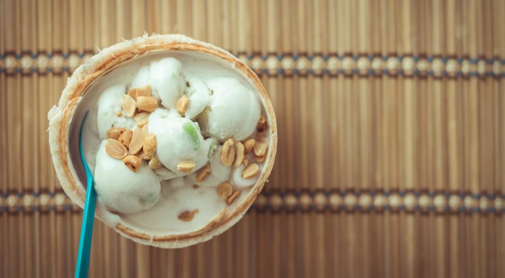 Helado de coco y cacao