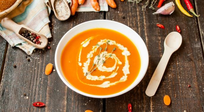 Crema de zanahoria y kión