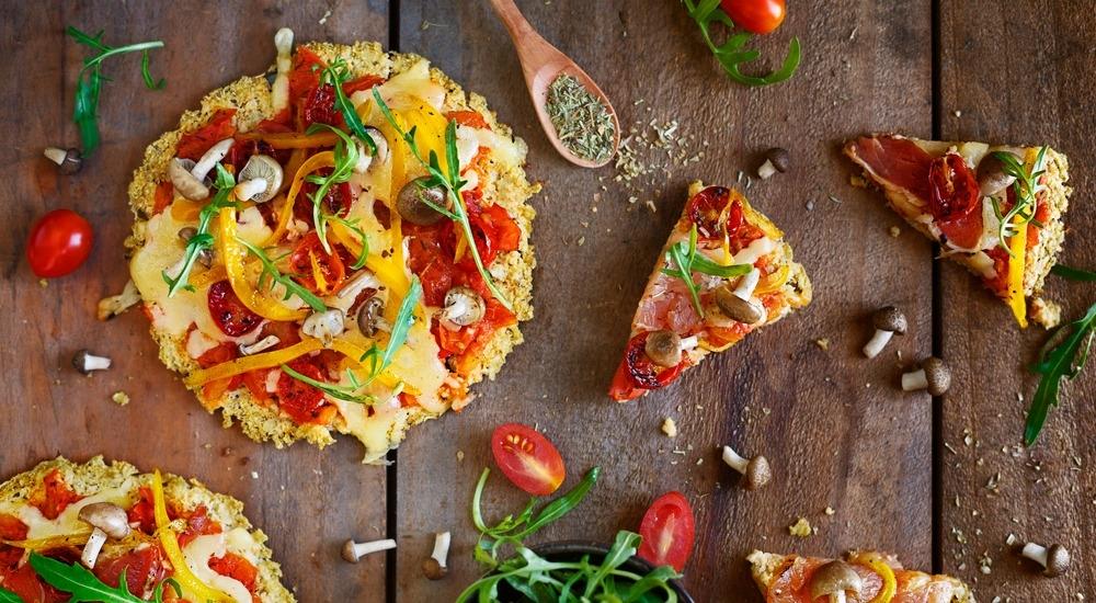 Receta: Pizza con masa de coliflor