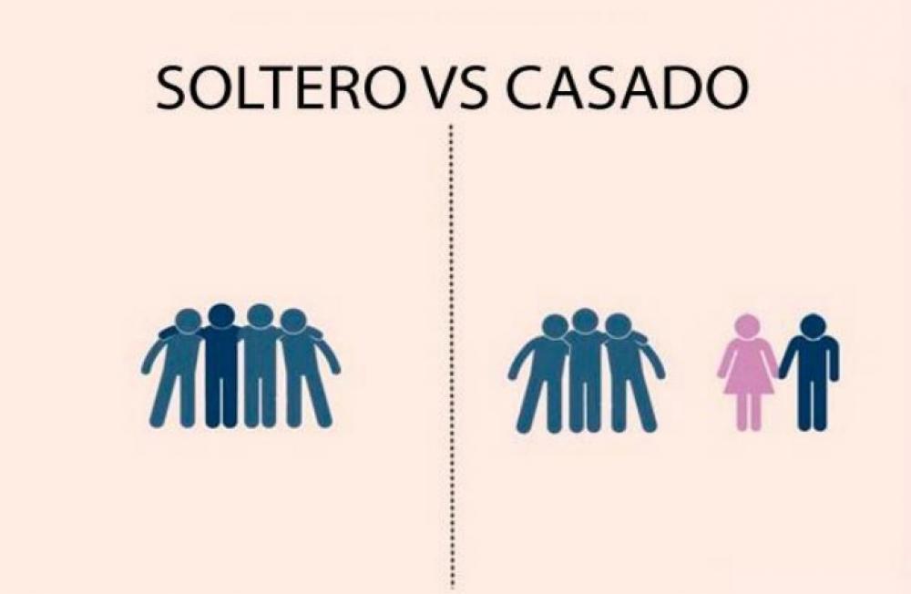 diferencia entre un hombre soltero y uno casado