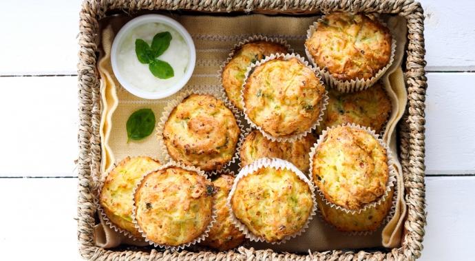 Muffins de platano y zucchini