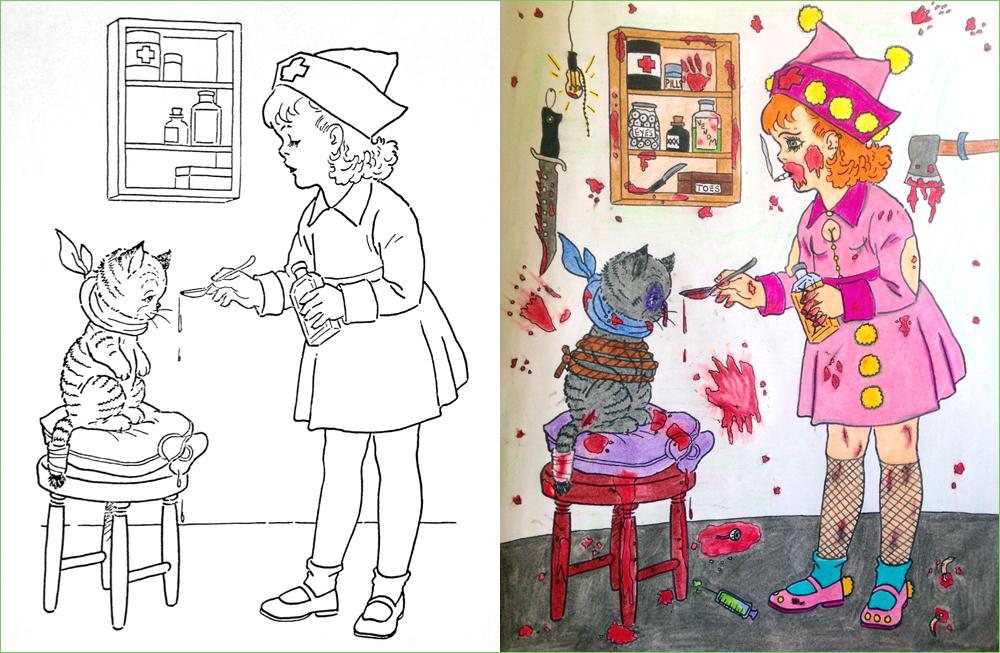 Esto es lo que pasa cuando le das a un pervertido un libro de niños ...